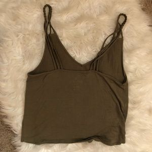 American Eagle Outfitters Tops - American Eagle Green Braided Strappy Tank Top